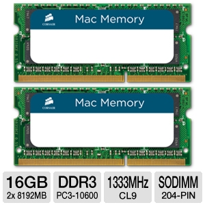 Corsair Mac Memory — 16GB Dual Channel DDR3 SODIMM Memory Kit