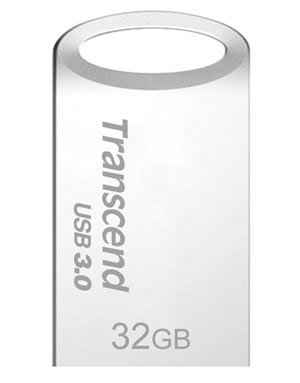 Transcend Jetflash® 710 USB3.0 32GB Flash Drive- Silver
