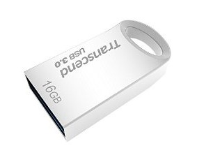 Transcend Jetflash® 710 USB3.0 16GB Flash Drive - Silver