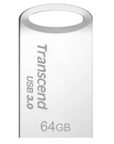Transcend Jetflash® 710 USB3.0 64GB Flash Drive- Silver