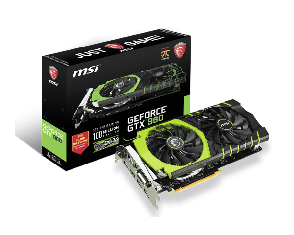 MSI GeForce GTX 960 Limited Edition 100ME 2GB GDDR5 Gaming Graphics Card