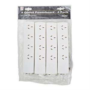 Eiger 4 Outlet Powerboard - 4 Pack