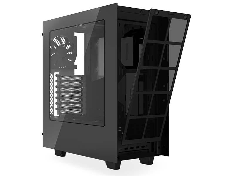 nzxt source 340 usb3 0 mid tower case black red ca s340mb gr centre com best pc hardware. Black Bedroom Furniture Sets. Home Design Ideas