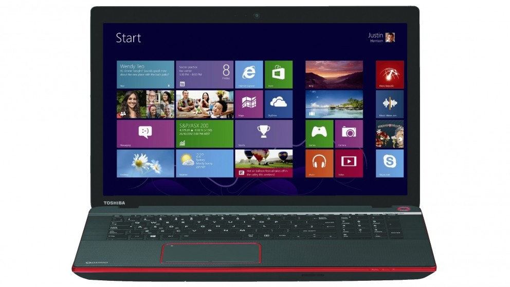 "Toshiba Qosimo X70 17.3"" Full-HD Display - Intel Core i7 4700MQ, 16GB RAM, 2TB HDD + 8GB SSD Cache, GTX 770M 3GB Dedicated Graphics, BluRay Writer, Windows 8, 1 Year Warranty"