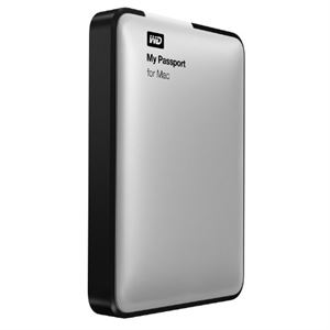 "2TB WD My Passport For Mac 2.5"" External HDD USB3.0 - SILVER"