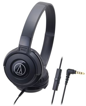 Audio-Technica ATH-S100IS Portable DJ Style Headphones With Mic - Black