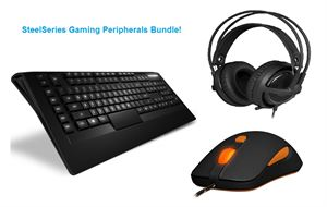 Steelseries Gaming Bundle! - Steelseries Apex Raw Backlit Gaming Keyboard + SteelSeries Kana V2 Pro Gaming Mouse Black & Siberia V3 Headset Black