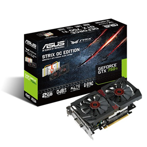 ASUS GeForce GTX 750Ti OC Strix 2GB GDDR5 Graphics Card