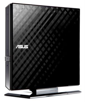 Asus SDRW-08D2S-U Slim External USB 2.0 DVD Read/Writer - Black