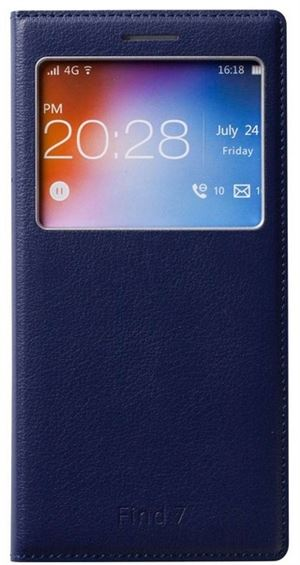OPPO FIND7 Phone Cover With Window - Dark Blue