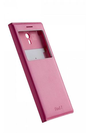 OPPO FIND7 Phone Cover With Window -Red