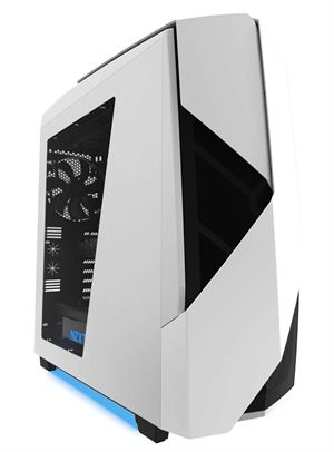 NZXT Noctis 450 Mid Tower Case - White With Blue LED Underglow