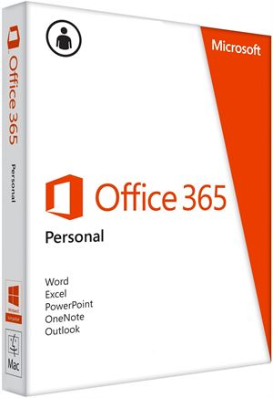 Microsft Office 365 Personal - 1 Year Subscription, Media-Less, 32/64-Bit