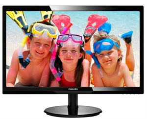 "Philips 24"" Full-HD 1920 x 1080 LED Monitor, 5ms, VGA, DVI, VESA-Mountable - 246V5LSB"