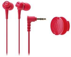 Audio-Technica ATH-CKL203RD In-Ear Headphones - Red