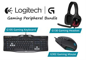 Logitech G Series Gaming Peripheral Bundle - G105 Keyboard, G130 Headset & G302 Daedalus Mouse