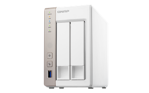 Qnap TS-251 2-Bay NAS System - 1GB RAM, 2.41GHz Dual-Core CPU, USB 3.0, 2 Year Warranty