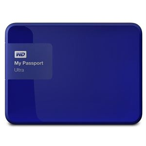 "Western Digital My Passport 3TB Ultra Portable 2.5"" External USB 3.0 Hard Drive With Backup Software - Blue, 3 Year Warranty"