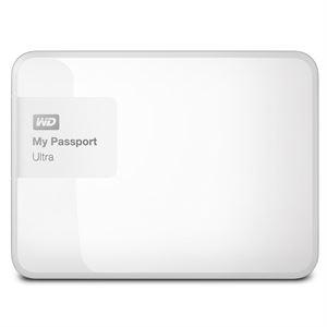 "Western Digital My Passport 3TB Ultra Portable 2.5"" External USB 3.0 Hard Drive With Backup Software - White, 3 Year Warranty"