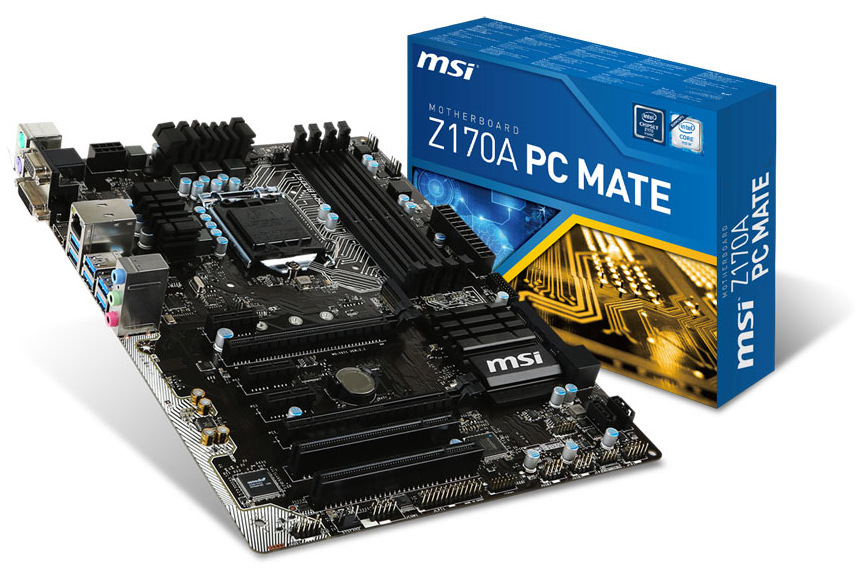 MSI Z170A PC Mate Socket LGA1151 ATX Motherboard - DDR4