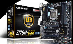 Gigabyte Z170M-D3H Socket LGA1151 mATX Motherboard - DDR4
