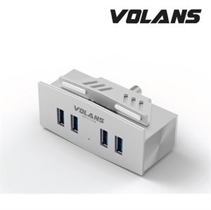 Volans 4-Port USB3.0 Premium Hub - Aluminium Clamp VL-HM04