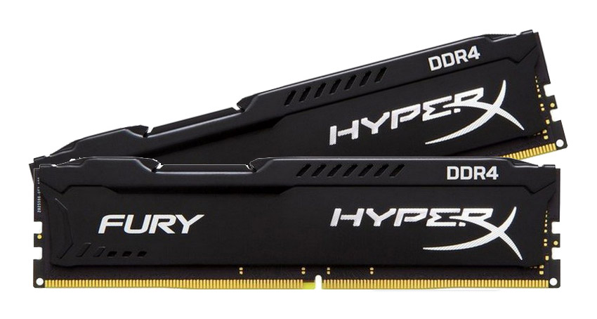 kingston hyperx fury 16gb 2 x 8gb 2400mhz ddr4 desktop ram black hx424c15fb2k2 16 centre. Black Bedroom Furniture Sets. Home Design Ideas