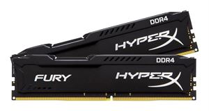 Kingston HyperX Fury 16GB (2 x 8GB) 2400MHz DDR4 RAM, Black - HX424C15FBK2/16