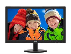 "Philips 23.6"" Full-HD LED Monitor, 1920 x 1080, VGA,DVI,HDMI, VESA-Mountable -243V5QHSBA"