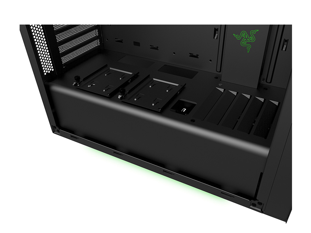 nzxt source 340 razer edition mid tower case matte black ca s340w ra centre com best pc. Black Bedroom Furniture Sets. Home Design Ideas