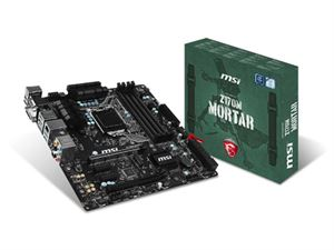 MSI Z170M Mortar Socket LGA1151 mATX Gaming Motherboard - DDR4