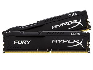 Kingston Hyper X Fury 8GB (2 x 4GB) 2400MHz DDR4 Desktop Memory/RAM - HX424C15FBK2/8