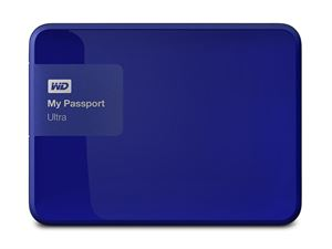 "Western Digital My Passport Ultra 2TB 2.5"" External USB 3.0 Hard Drive - Blue"