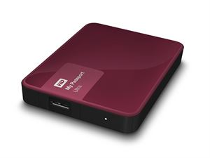 "Western Digital My Passport Ultra 2TB 2.5"" External USB 3.0 Hard Drive - Berry"