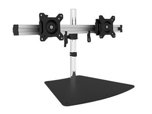 "VisionMounts Aluminium Free-Standing Dual Monitor Mount Supports up to 27"" - VM-LCD-MP220S-EX"