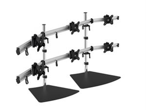 "VisionMounts Aluminium Free Standing Desk Mount Supports 6 Monitors up to 27"" - VM-LCD-MP260S2-EX"