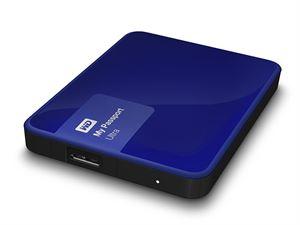 Western Digital My Passport Ultra 1TB External USB 3.0 Hard Drive with Backup Software, Blue - WDBGPU0010BBL