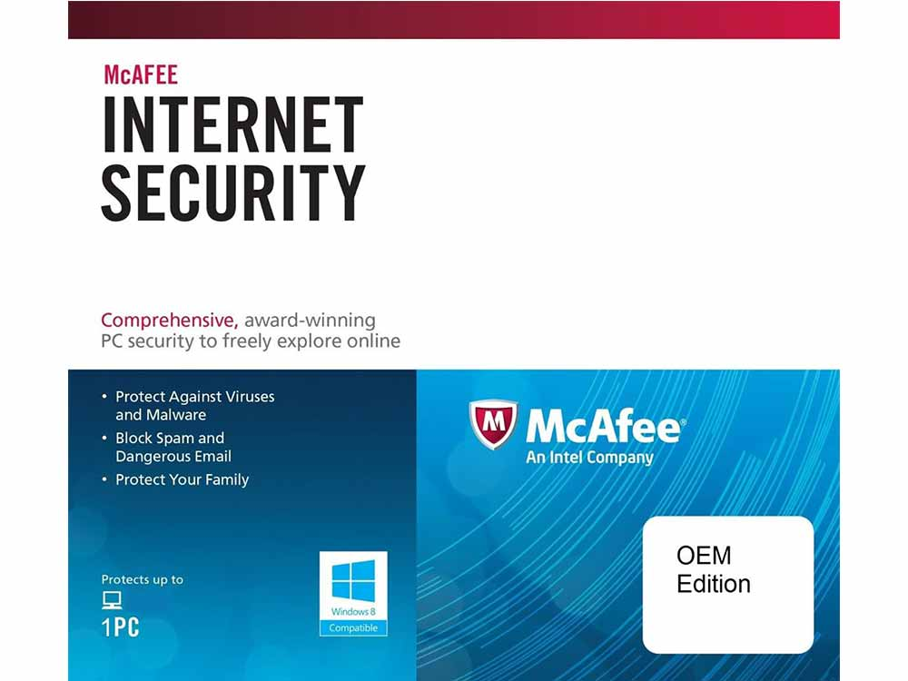 McAfee Internet Security For 1 PC, 1 Year, OEM Edition