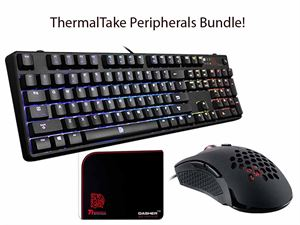 ThermalTake eSPorts Gaming Bundle! - Poseidon Z RGB Brown Switches, Ventus X Gaming Mouse & Dasher V2 Gaming Mousepad