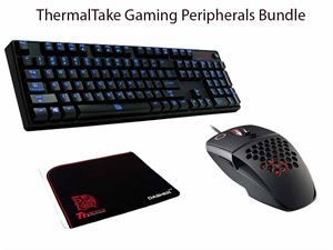 ThermalTake eSports Gaming Bundle! Poseidon Mechanical Blue Switch Keyboard, Ventus Ambidextrous Gaming Mouse, Dasher V2 Gaming Mousepad