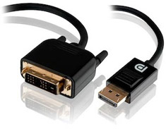 Goldwire 3m Display Port to DVI Cable - Male to Male