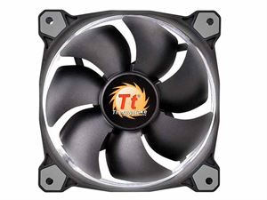 ThermalTake Riing 120mm White LED Static Pressure Optimised Case Fan - CL-F038-PL12WT-A