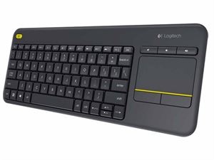 Logitech K400 Plus Wireless Keyboard with Touchpad - Black