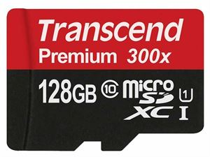Transcend 128GB MicroSDHC Class 10 UHS-I SD-Card With Full-Size SD Adapter - TS128GUSDU1
