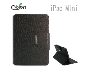 Obien - iPad Mini 2 & 3 Flip Case - Ice Texture Black