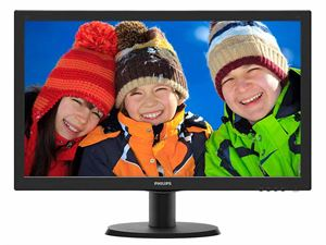 "Philips 23.6"" Full-HD LED 1920 x 1080 Desktop Monitor with Built-in Speakers & VESA-Mountable - 243V5QHABA"