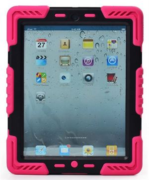 Pepkoo iPad 2/3/4 Case - Pink & Black