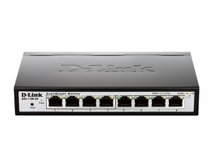 D-Link 8 PORT Gigabit Easy Smart Switch with POE (DGS-1100-08P)