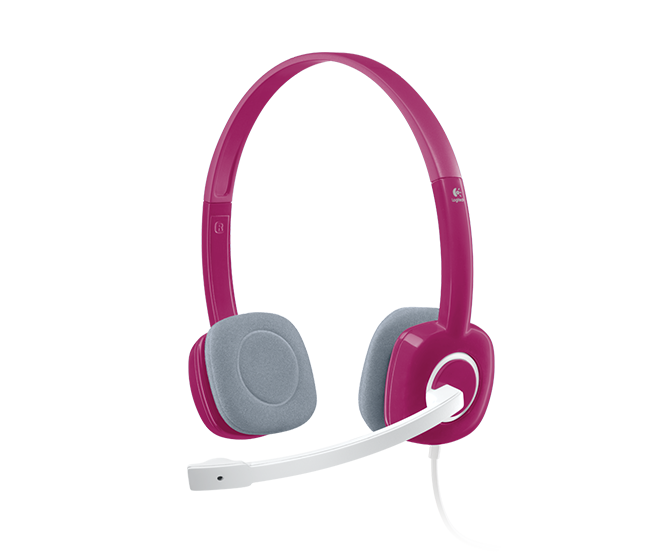 Logitech Pink Stereo Headset H150