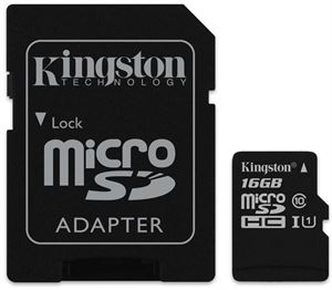 16GB Kingston Micro SDHC UHS-I 80R CL10